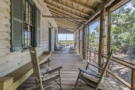 rocking chairs on screen porch