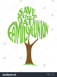 Family Reunion Poster Design Tree Savet Date Family Reunion Text Stock Vector Royalty
