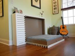 Wondrous Wall Bed Using Murphy Bed Kits with Light Green Wall Paint and  Wicker Basket Jar