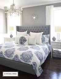 Amazing More Images Of Navy Blue And Gray Bedroom Ideas