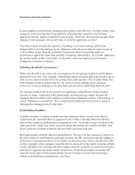 Employee Self Assessment Examples Evaluation Sample Answers ...