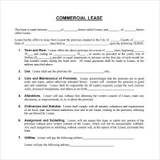Commercial Lease Agreements Cnbam