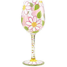 Lolita Wine Glasses Glass- Oops I Daisied 45544951807