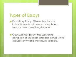 the essay ppt video online  types of essays expository essay gives directions or instructions about how to complete a task
