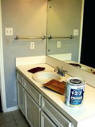 painting laminate bathroom vanity painted sink and makeover at s from how to paint can i