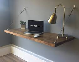 floating office desk. floating desk wall mounted walnut intended for desks u2013 home office g