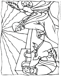 Coloring Pages Palm Sunday Free Bible Dpalaw