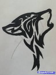 wolf face drawing tribal. Interesting Wolf How To Draw A Howling Tribal Wolf Step 4 Wolf Face Drawing Drawing  Easy Inside Tribal E
