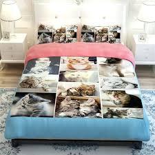 dog bed set cute dog and cat print bedding set soft polyester fabric duvet cover set dog bed set