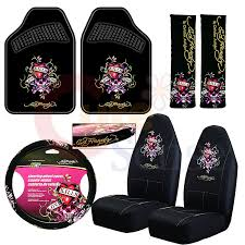 smart girly car seat covers lovely gallery of front seat cover 2 ed hardy