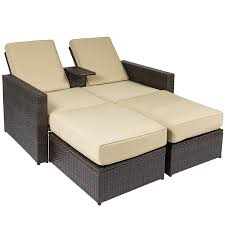 Amazon.com : Best Choice Products Outdoor 3pc Rattan Wicker Patio Love Seat  Lounge Chair Furniture Set Multi Purpose : Garden & Outdoor