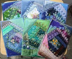 1564 best Crazy Quilting/Embroidery images on Pinterest | Crafts ... & I ❤ crazy quilting & embroidery . I am addicted to these - there are many  more.~By Ritva Peltola Make pages then put together to make a sample book Adamdwight.com