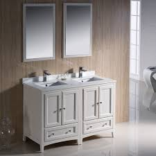 bathroom vanities 48 inch. Fresca Oxford 48-inch Antique White Traditional Double Sink Bathroom Vanity Bathroom Vanities 48 Inch