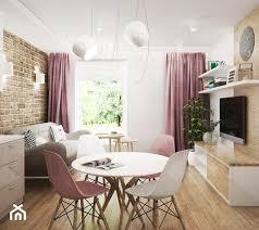 aranżacje wnętrz salon mieszkanie białystok 3 mały salon z jadalnią styl skandynawski