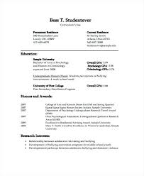 Curricula Vitae Example Student Curriculum Vitae Templates Free Word Format For Students