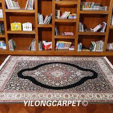 yilong 6 x9 oriental style area rug hand knotted carpet persian silk rugs