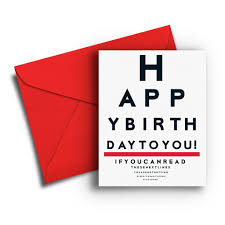 Chart Paper Greeting Card Eye Chart Birthday Card Fresh Frances Cards