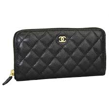 chanel zip wallet. chanel large zip around wallet caviar skin black / gold metal a50097 y01864 c3906 02p30may15