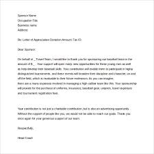 thank you letter to donors sample sponsor thank you letter 26 download documents in pdf word