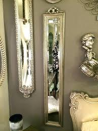 long wall mirrors wall mirrors narrow wall mirror decorative silver bow ornate narrow mirror shabby