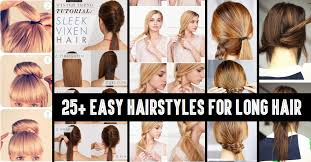 Hairstyle Long Hair 2016 classy to cute 25 easy hairstyles for long hair for 2017 6537 by stevesalt.us