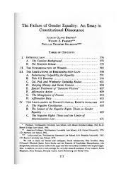 the failure of gender equality an essay in constitutional  the failure of gender equality an essay in constitutional dissonance