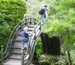 Lawn & Garden:Small Stone Bridge In Japanese Garden Idea Semi Half Shaped  Japanese Garden