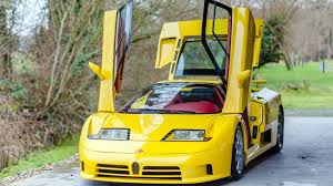 Eb are the initials of ettore bugatti, while 110 stands for his 110th birthday. The Only Yellow Bugatti Eb110 Ss With Red Interior Is For Sale