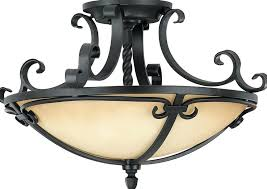 wrought iron ceiling lights