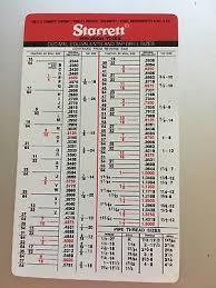 Cleveland Twist Drill Chart Starrett Pocket Tap Drill Chart Www Bedowntowndaytona Com