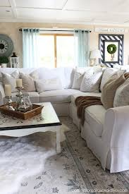 Sectional covers Pet Sectionalreveal7 Confessions Of Serial Diyer How To Make Sectional Slipcover