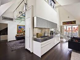 ... Living Room, Contemporary Loft Apartment Interior Design With Wooden  Floors Room Dividers Ideas: Captivating ...