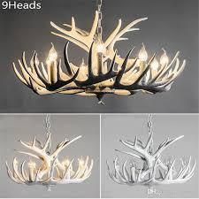 acheter rustic modern large white deer antler chandeliers lampe d éclairage avec des branches d arbres pour salle À manger restaurant 4 6 8 9 12 lights de