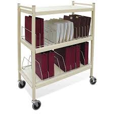 Medical Chart Carts With Vertical Racks Open Style Chart Carts