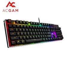 ACGAM 104 Keys <b>gaming</b> RGB Mechanical <b>keyboard Spanish</b> ...