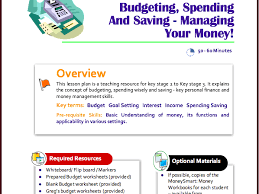 Teaching Budgeting Worksheets Planning And Budgeting For The Summer Holidays By Pfeg Teaching
