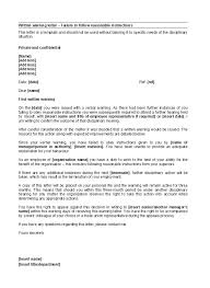 How To Write A Warning Letter To An Employee 49 Professional Warning Letters Free Templates Template Lab