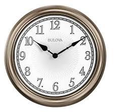 bulova c4826 light time illuminated indoor outdoor wall clock