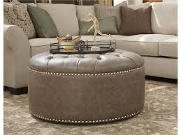 coffee table and sectional sofa decorating space ideas using oversized ottoman living room furniture with attractive round tufted oversized ottoman
