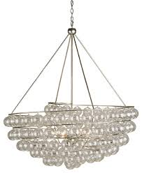 contemporary stratosphere chandelier 4 light contemporary silver leaf