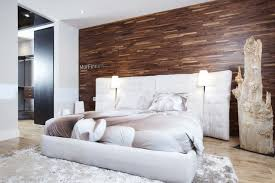Beautiful FriendlyWall Wood Paneling Contemporary Bedroom