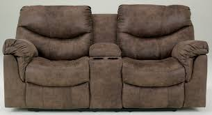 Double Rocker Recliner Loveseat Alzena Double Reclining Loveseat With Console From Ashley 7140094