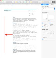 Resume Margins iwork How to adjust the left margin in Pages' Business Resume 2
