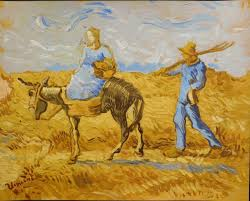 tempera and gouache on paper attributed to vincent van gogh 1853 1890 titled morning going to work 96 000 one of five van goghs in the
