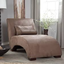Bedroom Chaise Lounge Chair Chaise Lounge Chairs Wooden Leg Soft Brown Chair Fabric Chaise