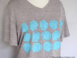 refashioned t shirt with hand painted fabric design