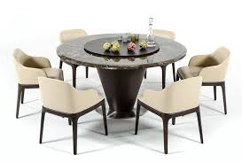 details about glenda 7 piece dining room furniture brown marble round table cream chairs set