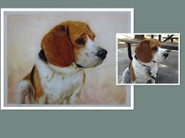 custom portrait of your pet dog handmade oil painting on canvas