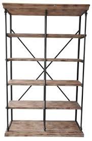 La Salle Metal And Wood Bookshelf at Michael Alan Furniture