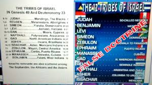 Is The 12 Tribes Chart True Or False Unmistakable Israelite